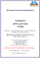 Tenancy Application Form - Metropole Property Strategists