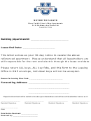 Notice To Vacate - 30-day Notice To Vacate
