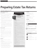 Preparing Estate Tax Returns Seminar Registration Form