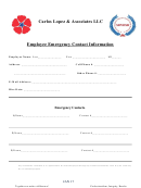 Employee Emergency Contact Information Form - Career Rehab