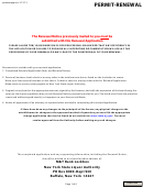 Permit Renewal Application Form