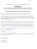 Renewals In Connection With The Nys Liquor Authority