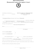Probate Form - Monmouth County