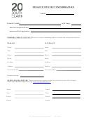 General Tenant Contact Form