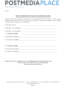 Tenant Emergency Contact Information Form