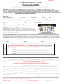 Nys Fraternal Order Of Police - License Plate Program Application