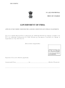 Application Form For Miscellaneous Services On Indian Passports