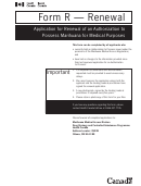 Form R Application For Renewal Of Authorization To Possess Medical Marihuana The Medical Marijuana Mission