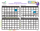 2016 Girl Scout Cookie Program Calendar