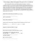 Private Employer Affidavit Form Of Compliance Pursuant To Ocga 36