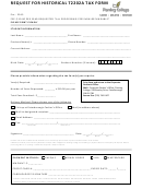 Request For Historical T2202a Tax Form