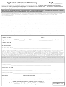 Application For Transfer Of Ownership