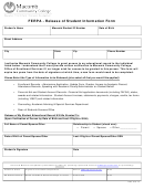 Ferpa Release Of Student Information Form