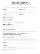 Universal Health Form For Camp