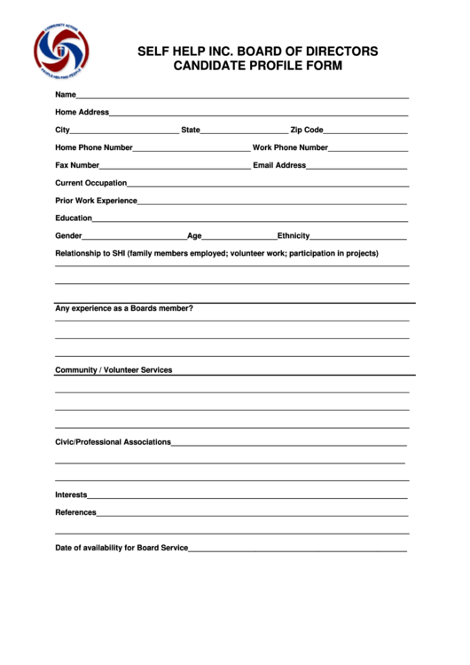 49 profile templates free to download in pdf for Candidate application form template