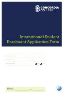 International Student Enrolment Application Form