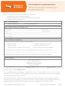 Hap Direct Payment Consideration Form