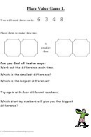 Place Value Game Template
