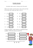 Place Value Chart Worksheet