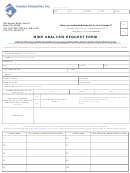 Wine Analysis Request Form