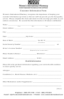 Customer Information Form - Womens International Pharmacy