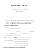 Request For Transcript - The Bronx High School Of Science