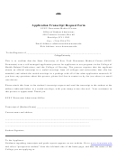 Application Transcript Request Form - Suny Downstate Medical Center