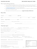 Wagner College Transcript Request Form