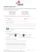 Transcript Request Form - St Johns University