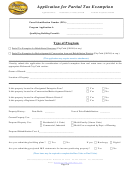 Application For Partial Tax Exemption - City Of Richmond