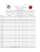 4th Grade Reading Log - September