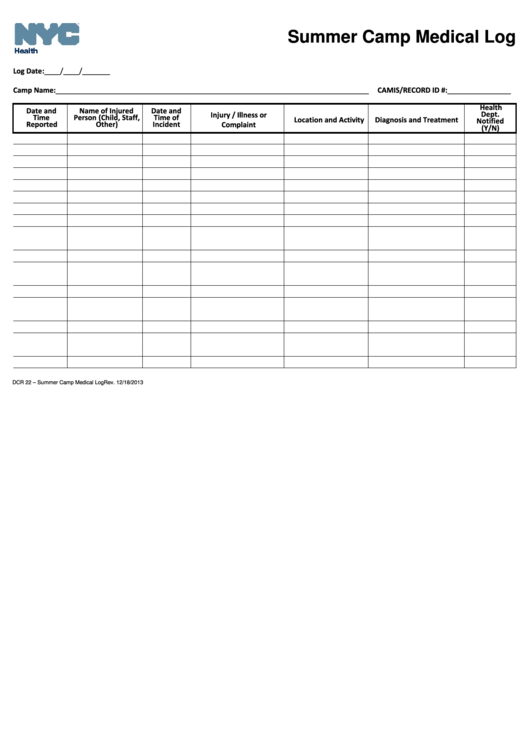 seizure diary template - 238 medical log free to download in pdf