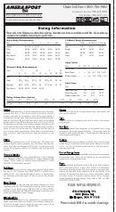 Amera Sport Sizing Information Sheet