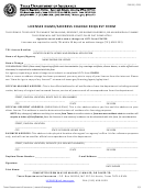 Licensee Name Address Change Request Form