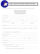 Fee Complaint Form - The Chicago Bar Association
