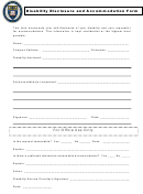 Disability Disclosure And Accommodation Form