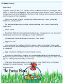 Easter Bunny Funny Checkbox Letter Template For Adults