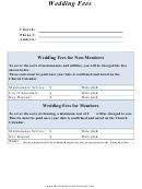 Wedding Reception Cost Spreadsheet