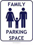 Family Parking Space Sign Template