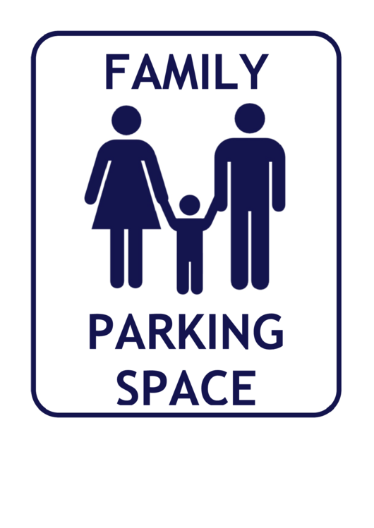 Family Parking Space Sign Template Printable pdf