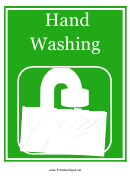 Hand Washing Sign Template