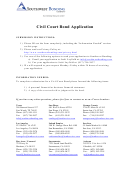 Civil Court Bond Application Form