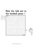 Football Thanksgiving Maze Template