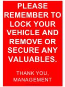 Management Reminder Sign