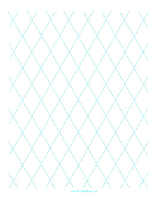 Diamond Graph Paper Printable pdf