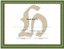 Centered H Monogram Certificate Template