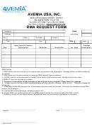 Avemia Usa Rma Request Form