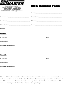 Rma Request Form Sample