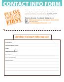 Contact Info Form - Ripcho Studio