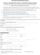 Hoosick Falls Biomonitoring Contact Information Form